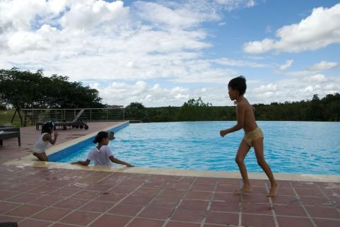 子供用プールに注意